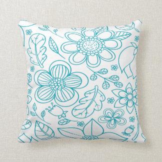 Cojín Decorativo Amortiguador azul floral