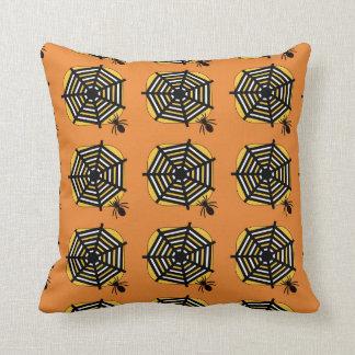Cojín Decorativo Amortiguador con la araña y tela en naranja