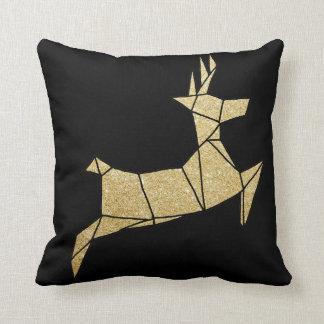 Cojín Decorativo Amortiguador del negro del purpurina del oro del