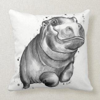 Cojín Decorativo Amortiguador del vuelo del hipopótamo