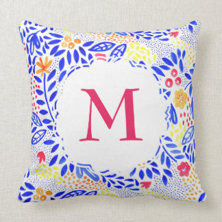 Cojín Decorativo Amortiguador floral personalizado del Watercolour