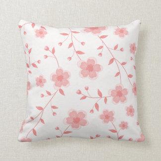 Cojín Decorativo Amortiguador floral rosado