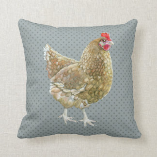 Cojín Decorativo Amortiguador ilustrado del tiro del pollo del