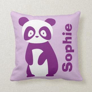 Cojín Decorativo Amortiguador personalizado púrpura de la panda