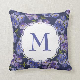 Cojín Decorativo Amortiguador púrpura personalizado del Watercolour