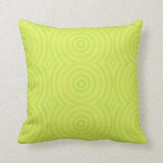 Cojín Decorativo Amortiguador verde de los círculos