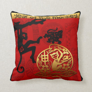 Cojín Decorativo Año Nuevo chino del corte de papel del mono 2016