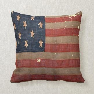 Cojín Decorativo Antigüedad de la bandera de unión de la guerra