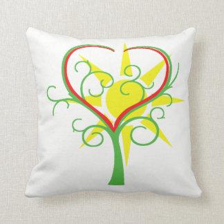 Cojín Decorativo Árbol, corazón y sol