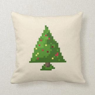 Cojín Decorativo Árbol de navidad del pixel 8bit del friki
