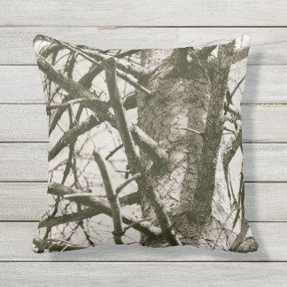 Cojín Decorativo Arbolado de la madera de la naturaleza de las