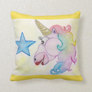 Cojín Decorativo Arco iris del unicornio