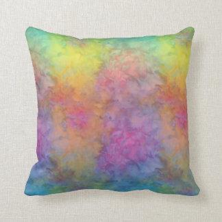 Cojín Decorativo [Arco iris Frost] teñido anudado multicolor