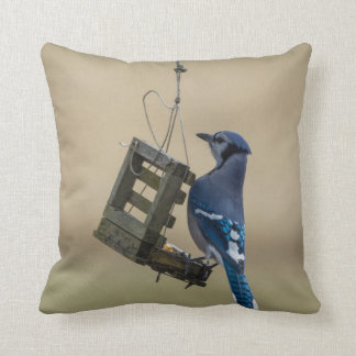 Cojín Decorativo Arrendajo azul de balanceo