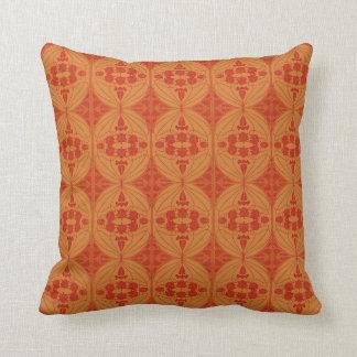 Cojín Decorativo Arte Nouveau retro - oro rojo oscuro