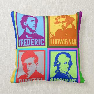 Cojín Decorativo Arte pop colorido moderno de los compositores el |