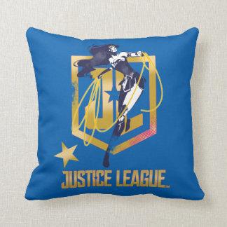 Cojín Decorativo Arte pop del logotipo de la Mujer Maravilla JL de