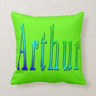 Cojín Decorativo Arturo, nombre, logotipo, amortiguador del tiro de