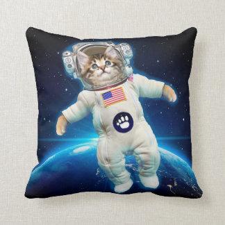 Cojín Decorativo Astronauta del gato - gato del espacio - amante