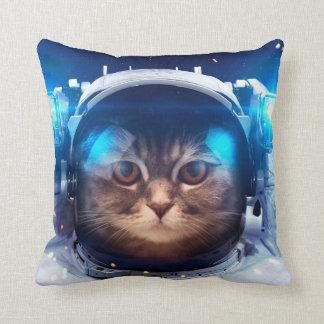 Cojín Decorativo Astronauta del gato - gatos en espacio - espacio