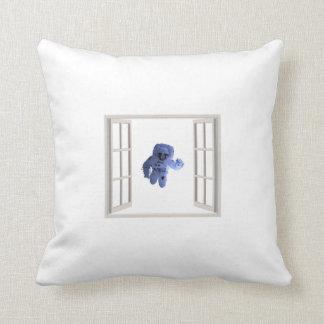Cojín Decorativo Astronauta detrás de la ventana