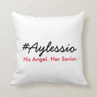 Cojín Decorativo #Aylessio, su ángel, su salvador