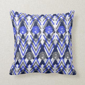 Cojín Decorativo Azteca del gris azul y del blanco