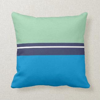 Cojín Decorativo Azul, azules marinos y verde menta de cielo