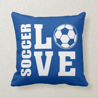 Cojín Decorativo Azul del amor del softball