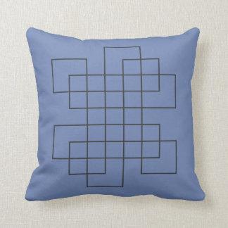 Cojín Decorativo Azul del laberinto