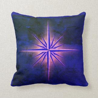 Cojín Decorativo Azul veteado de la estrella del norte
