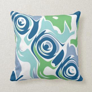 Cojín Decorativo Azules enrrollados de la primavera
