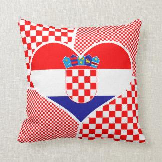Cojín Decorativo Bandera croata con los inspectores rojos y blancos