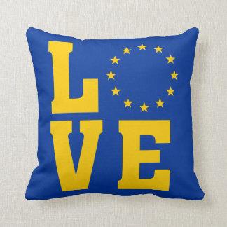 Cojín Decorativo Bandera de la UE, unión europea, AMOR