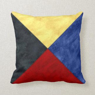 Cojín Decorativo Bandera marítima de la señal náutica de la