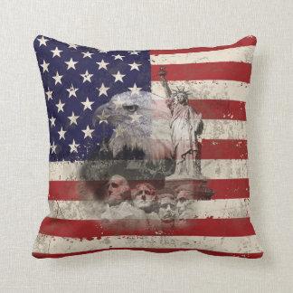 Cojín Decorativo Bandera y símbolos de Estados Unidos ID155
