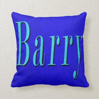 Cojín Decorativo Barry, logotipo conocido en mosaico azul,