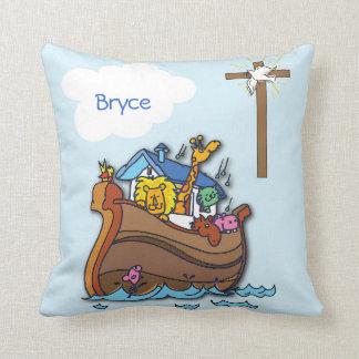Cojín Decorativo Bautismo del bebé de la arca de Noah adaptable,