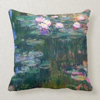 Cojín Decorativo Bella arte 1917 de Claude Monet de los lirios de