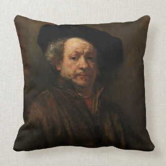 Cojín Decorativo Bella arte del autorretrato de Rembrandt Van Rijn