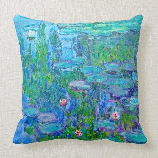 Cojín Decorativo Bella arte fresca de Monet de la charca del lirio