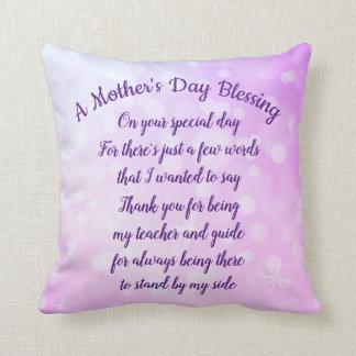 Cojín Decorativo Bendición del día de madre