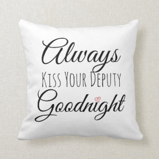 Cojín Decorativo Bese siempre a su diputado Goodnight