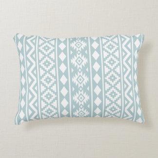 Cojín Decorativo Blanco azteca de la esencia (v) Ptn III en azul
