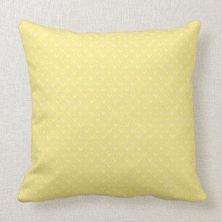 Cojín Decorativo Blanco en falso modelo amarillo limón de la