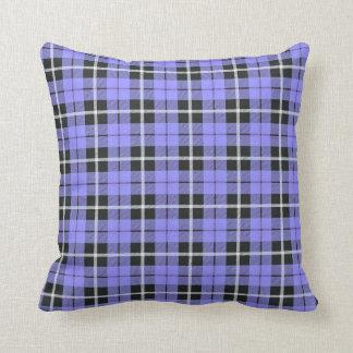 Cojín Decorativo blanco ligero del azul de cielo de la lavanda/raya