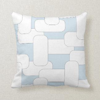 Cojín Decorativo Blanco y azul claro ligada