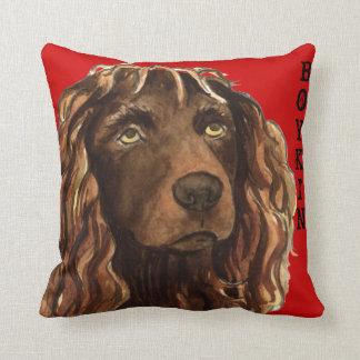 Cojín Decorativo Bloque del color del perro de aguas de Boykin