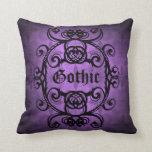 Cojín Decorativo Bonito púrpura y negro del Victorian gótico