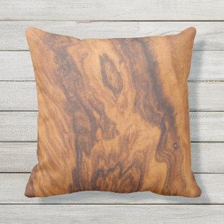 Cojín Decorativo Brown entona la falsa madera